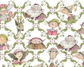 It's a Wrap--- Whimsical Holiday Paper Featuring Illustrations of Santa, Elves, and Reindeer 1 Sheet