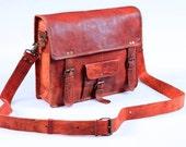 16 Inch Rustic Classic Bold Satchel Day Bag  -  16-ls-sqr-pkt-brass