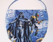 Star Wars Purse - Shoulder Bag Style - Dark Side Has Cookies - made with vintage Star Wars fabric - upcycled