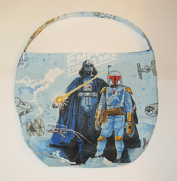 Star Wars Purse - Shoulder Bag Style - Bad Guys Have More Fun - made with vintage Star Wars fabric - upcycled