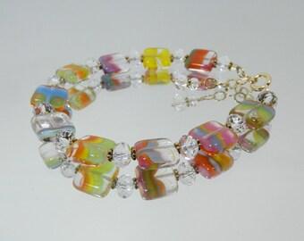 Penny Candy Colored Czech Glass Bracelet