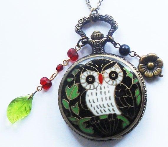 Owl Pocket Watch Pendant