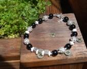 Ehlers Danlos Zebra Awareness Bracelet LOTS of Sterling
