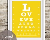 Love What You Do, Do What You Love (Eye Chart) ART Print (Featured in Canary Yellow) Buy 3 Get One Free