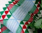 Hand woven organic cotton tea towel