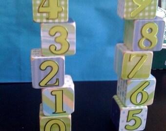 Personalized gift blocks - children kids nursery decoration room decoration photo props - newborn - best of etsy - birth announcements