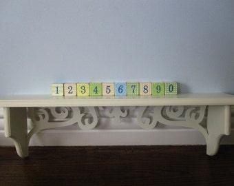 BOY/GIRL ANIMAL Wood Counting Blocks