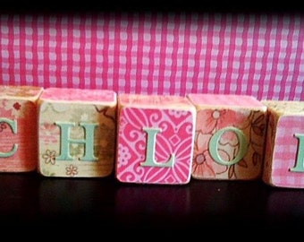 Personalized kids name blocks gifts - wood blocks - Birthdays - baby showers - center pieces - photo props - nursery decor - photo name prop
