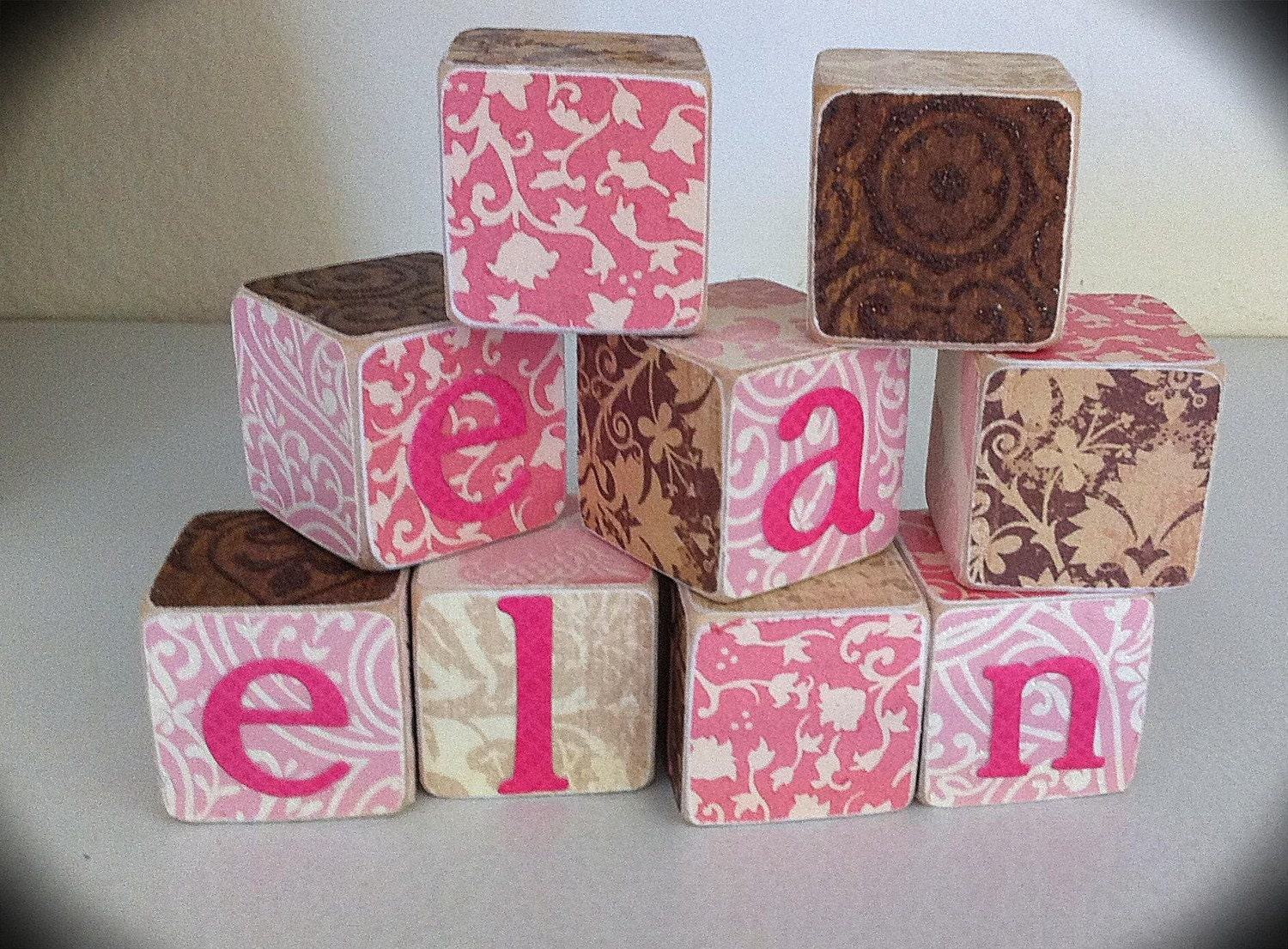Personalized name blocks baby wood name blocks custom kids zoom negle Gallery