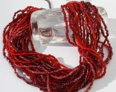 Red is hot - multi strand necklace