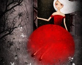 Red Bride Escape Print