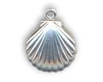 Sterling Silver Cast Shell Pendant    FAST SHIPPING