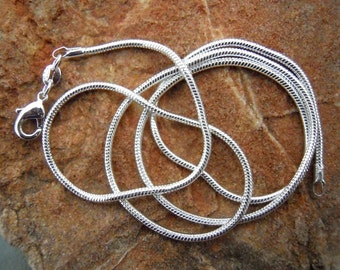 5 18 inch 2mm Silver plated Snake Chains. FAST SHIPPING