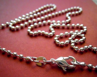 1 Silver plated 18 inch Ball Chain  FAST SHIPPING