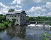 Lang Grist Mill 2 - Country Landscape, Rustic Mill, Vintage Stone Mill, Historical, Nostalgic Home, Home Decor 8X10 - Fine Art Print