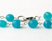 Blue new jade bracelet