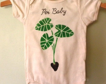 poi baby, organic hand painted baby onesie or little t-shirt