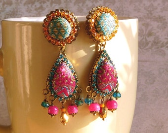 sari drop earrings