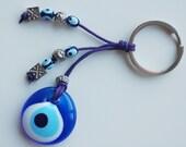 Evil Eye Handmade Glass Bead Key Chain