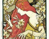 11x17 Vintage French Advertisements Poster. Art nouveau. L'Ermitage by Paul Berthon - 003