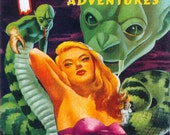 11x14 Vintage Sci-Fi Comic Book Print. Fantastic Adventures - Rest in Agony Poster -092