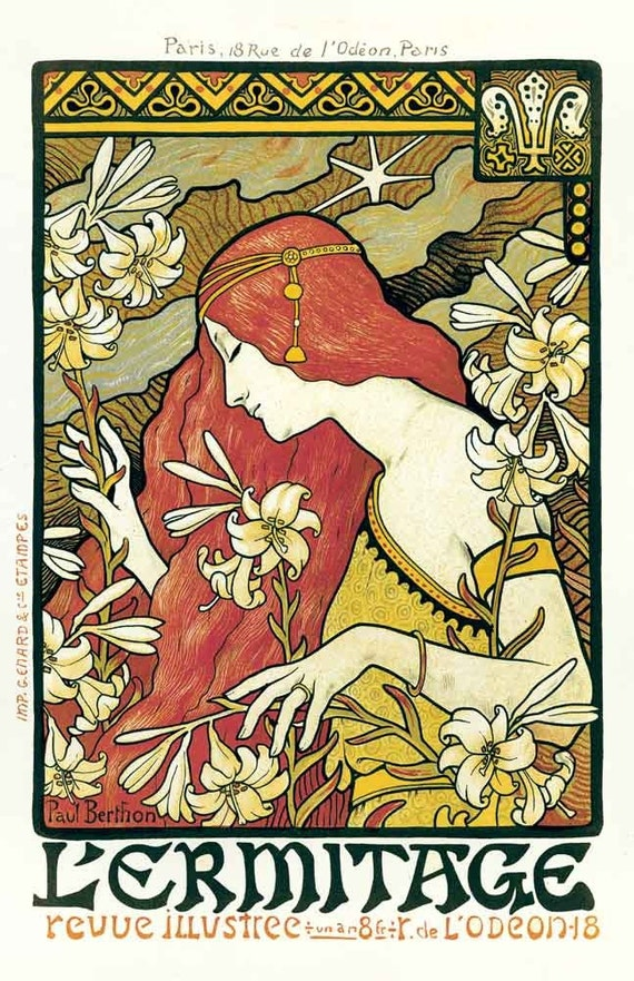 18x24 Vintage French Advertisements Poster. Art nouveau.