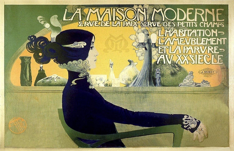 vintage french advertisements 11x17 la maison moderne poster. Black Bedroom Furniture Sets. Home Design Ideas