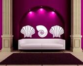 Vinyl Wall Art Decals Sea Shells Kids Children Nursery Business Office Dorm Bedroom Livingroom Vinyl Murals