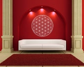 Flower of Life Vinyl Wall Mural for Home Office Business or Dorm