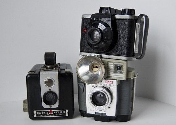 Trio of 3 Dysfunctional Vintage 620 Cameras