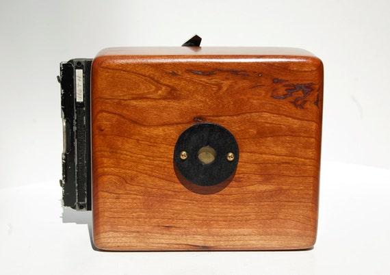 Cherry Wood 4x5 Pinhole Camera