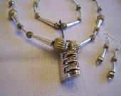 Silver Necklace, Silver Lock Key Necklace, Silver Lock Pendant, Lock and Key Necklace, Easter Necklace, Easter Jewelry, Easter Gift, Easter