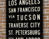 CREATE YOUR OWN Bus Roll. Bus Scroll. Tram Scroll. Personalized Destinations. Canvas 20.5 x 60
