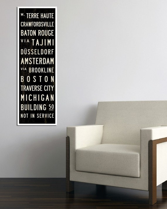 CREATE YOUR OWN. Bus Roll. Bus Scroll. Personalized Destinations. Canvas 12 x 36
