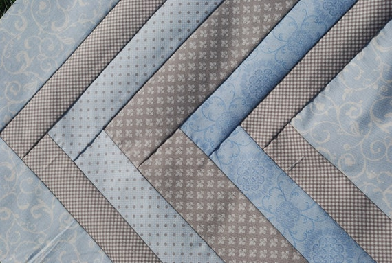 MODA, Puttin on the Ritz by Bunny Hill Designs. COUTURE Baby Boy Quilt. QUILTED