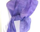 Silk scarf purple and violet design