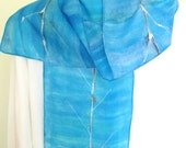Blue rowing design silk scarf