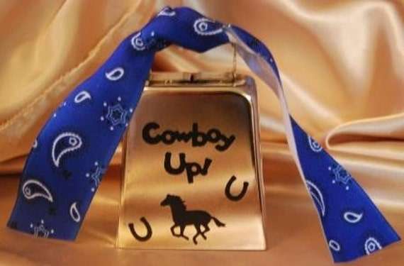 Cowboy Up Silver Cowbell