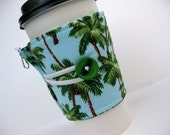 Coffee Cup Cozy - Adjustable - Palm Trees