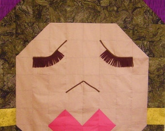 LIPS & LASHES- Quilt/Wall Hanging - Pattern Only