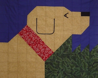 YELLOW LAB- Quilt/Wall Hanging - Pattern Only