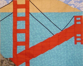 GOLDEN GATE- Quilt/Wall Hanging - Pattern Only