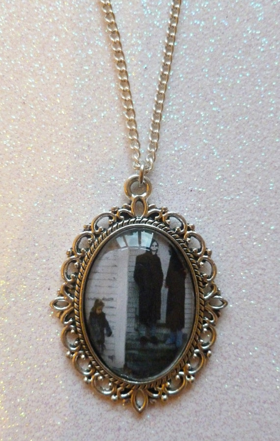 Brand New The Devil and God Are Raging Inside Me Cameo Necklace