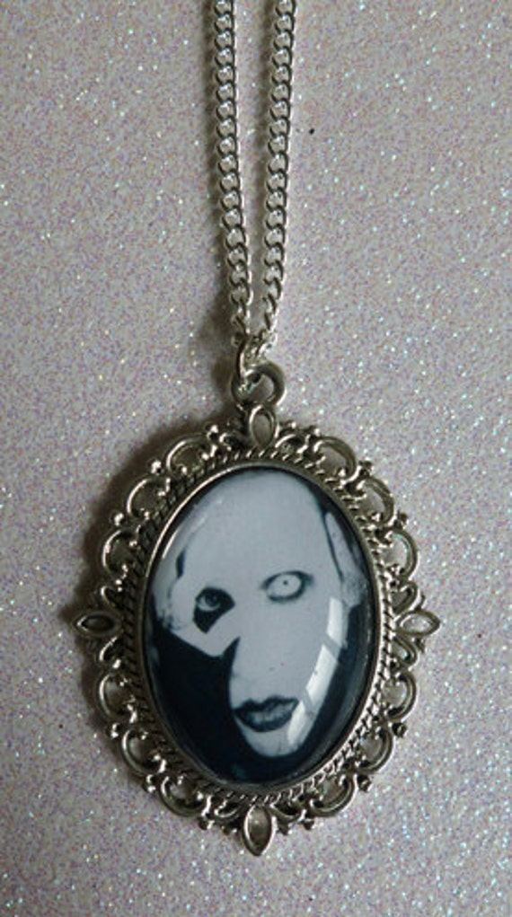 Marilyn Manson Cameo Necklace