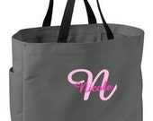 8 Personalized Bridesmaid Gift Tote Bag