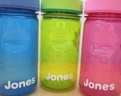 Sippy Cup Custom Name Labels- dishwasher safe- set of 5