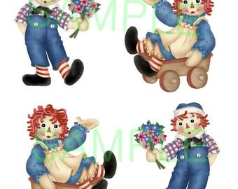 Raggedy Ann and Andy Digital Download Printable Images