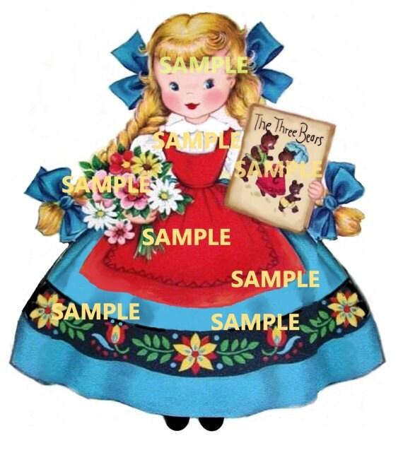 Goldie Locks Girl digital download printable