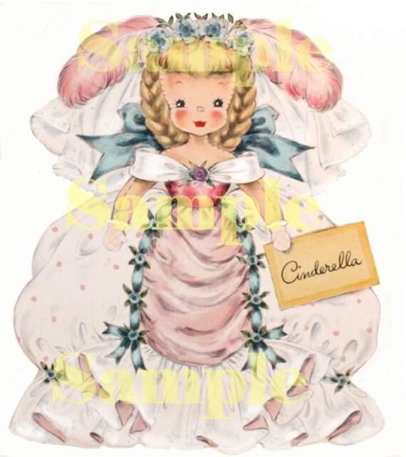Hallmark Cinderella card, digital, download, scrapbooking, card making