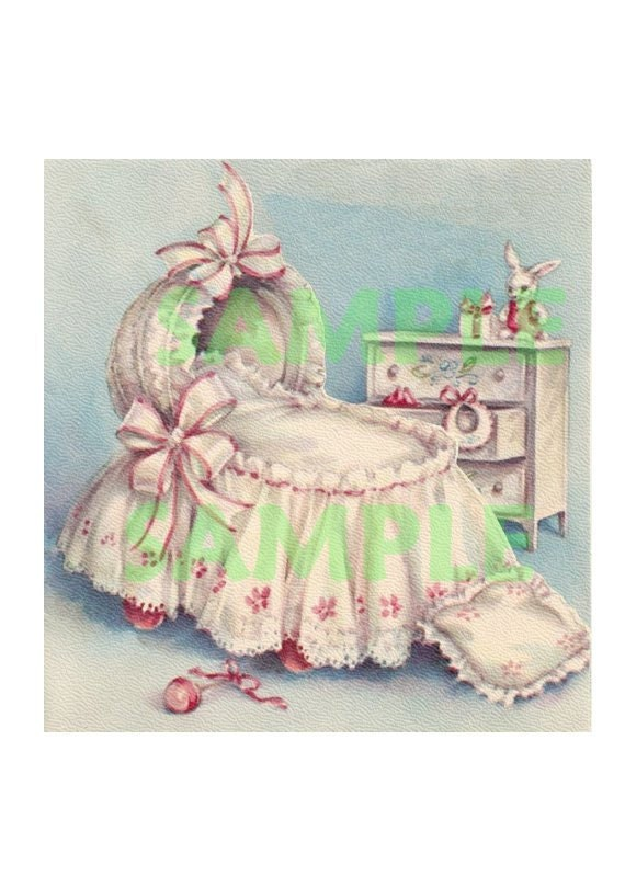 Vintage Baby Furniture Digital Image on Vintage Baby Nursery Furniture